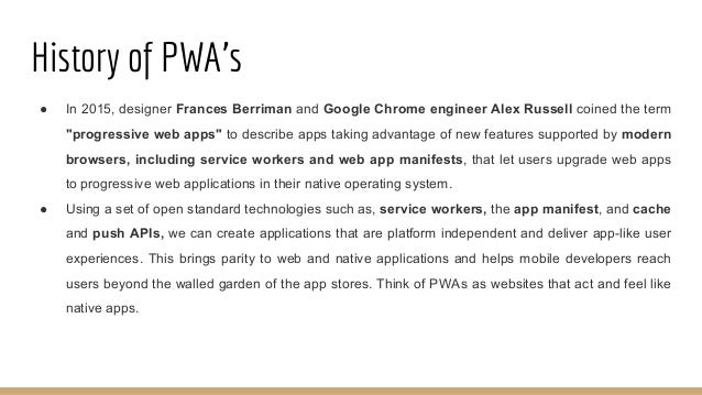 Features of PWA's ● Reliable - Load instantly and never show the downasaur, even in uncertain network conditions. ● Fast -...