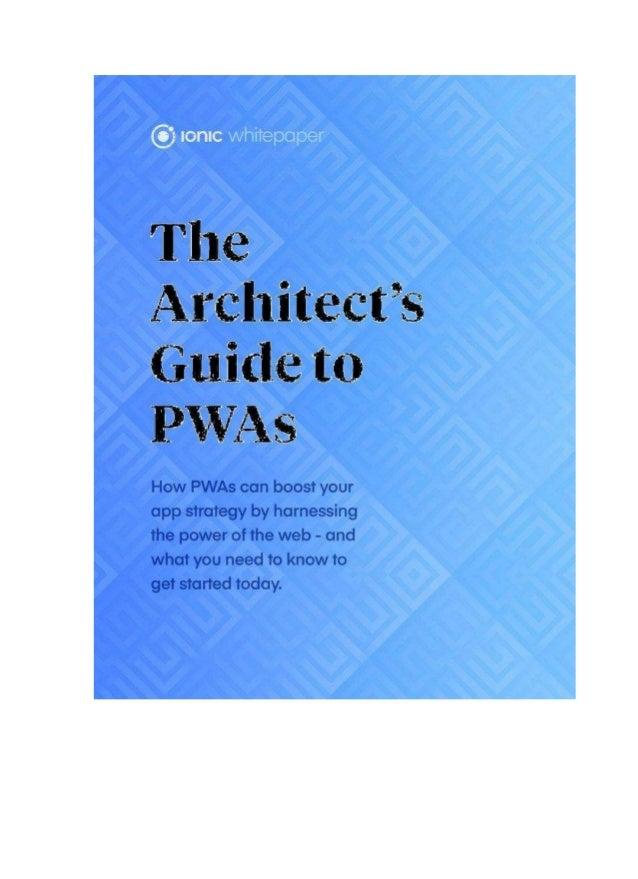 1 Progressive Web Apps Os Progressive Web Apps (PWAs) aproveitam os principais avanços em navegadores da web modernos, API...