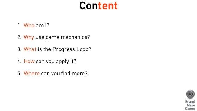 Progress loop presentation - BrandNewGame Slide 2