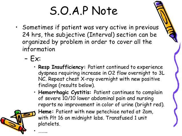 patient progress notes sample