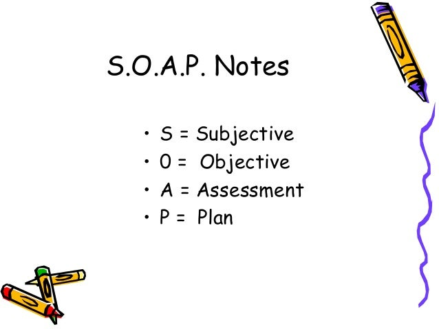 Best Subjective Objective Assessment Planning Note Pictures - Best