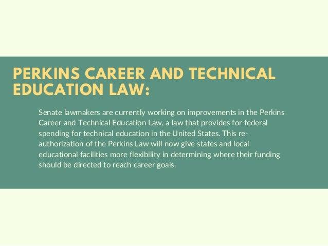 Progress on the New Career-Education Law | Michael G. Sheppard  Slide 2