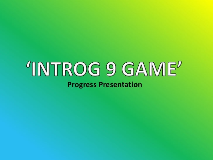 Progress Presentation