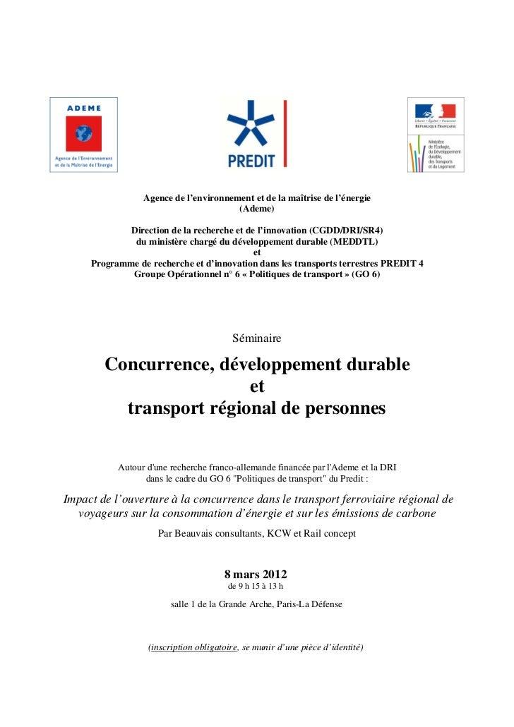 Agence de l'environnement et de la maîtrise de l'énergie                                       (Ademe)             Directi...