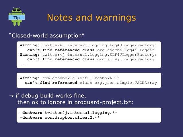 "Tip                Notes and warnings""Closed-world assumption""       Warning:    twitter4j.internal.logging.Log4JLoggerFac..."