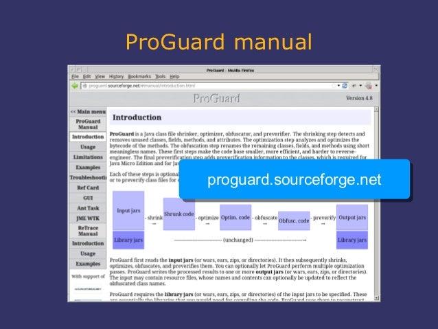 ProGuard manual      proguard.sourceforge.net      proguard.sourceforge.net