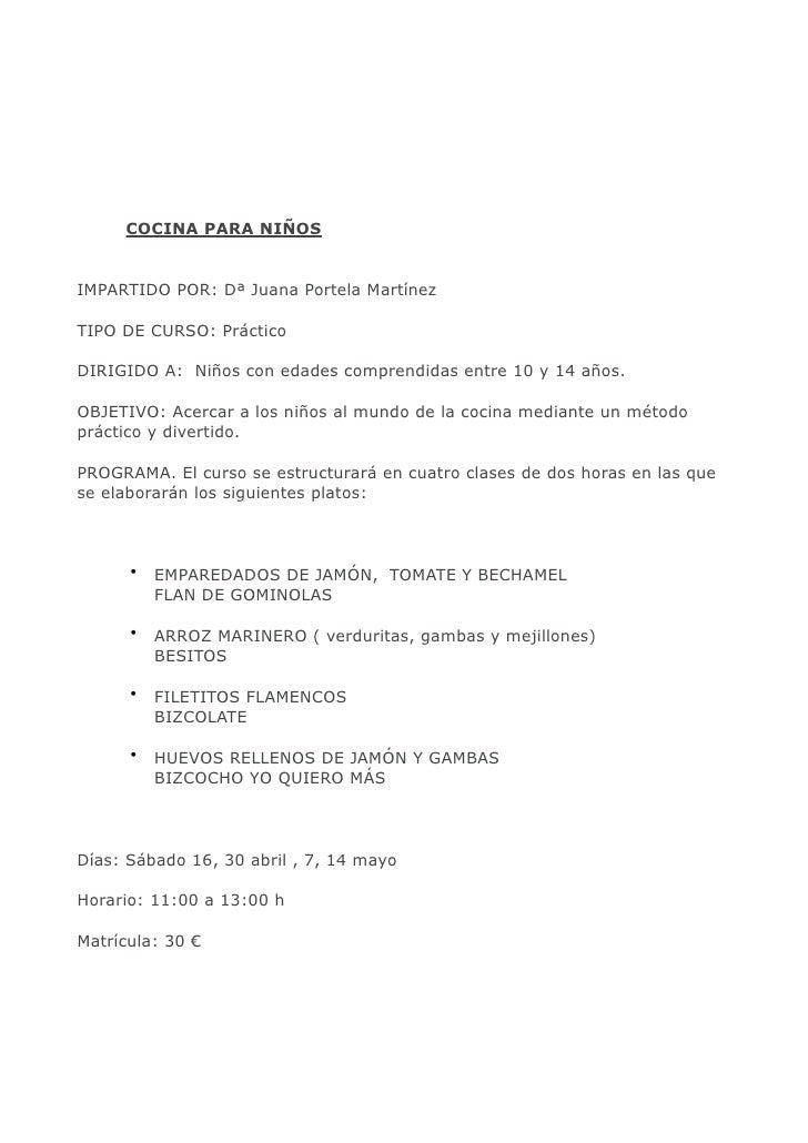 Cursos de cocina novacaixagalicia vigo enero junio 2011 - Cursos de cocina en ciudad real ...