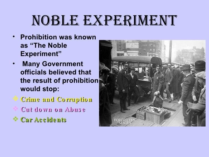 was prohibition a good idea