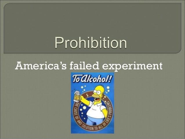America's failed experiment