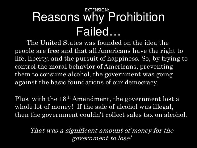 Prohibition: America's failed