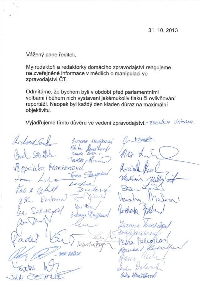 Prohlášení 61 redaktorů zpravodajství České televize