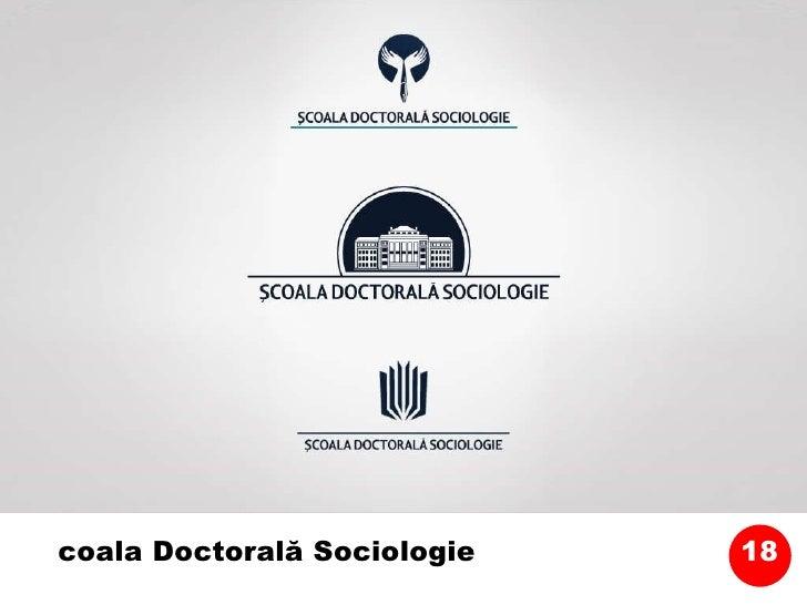 Școala Doctorală Sociologie 18