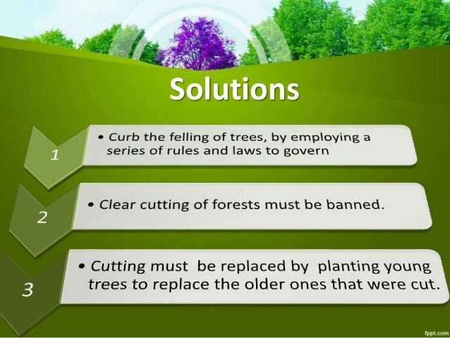Environment protection: Deforestation