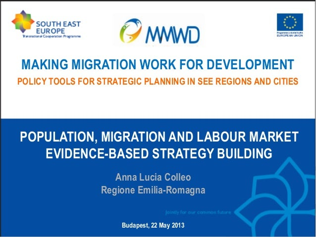 MAKING MIGRATION WORK FOR DEVELOPMENT POLICY TOOLS FOR STRATEGIC PLANNING IN SEE REGIONS AND CITIES  POPULATION, MIGRATION...