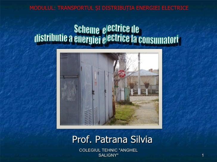 """MODULUL: TRANSPORTUL ȘI DISTRIBUȚIA ENERGIEI ELECTRICE              Prof. Patrana Silvia                COLEGIUL TEHNIC """"A..."""
