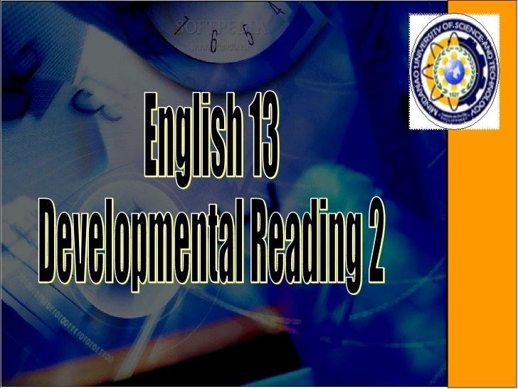 English 13 Developmental Reading 2