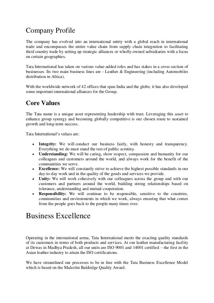 Company ProfileThe company has evolved into an international entity with a global reach in internationaltrade and encompas...