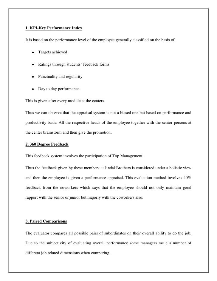 Projectperformance appraisal – Training Session Feedback Form