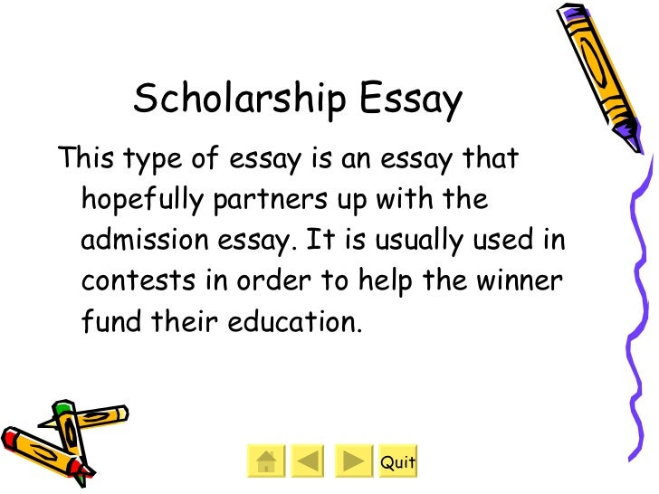 different types of essays  6 scholarship essay