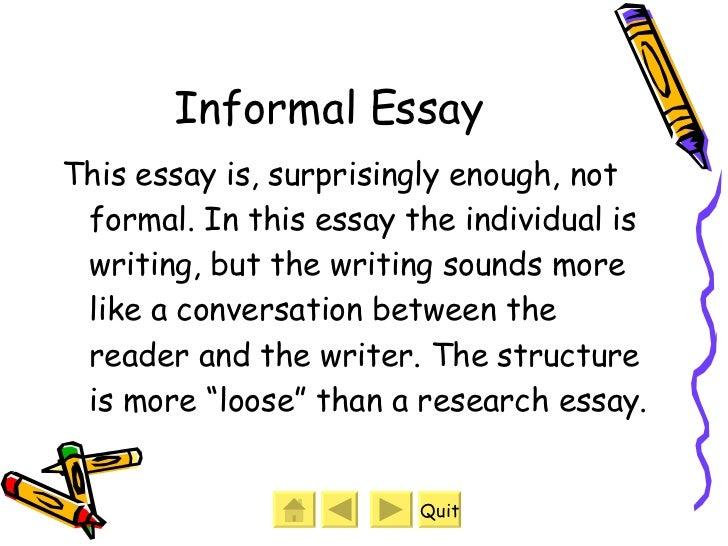 informal essay examples