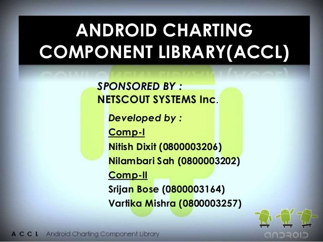 ANDROID CHARTINGCOMPONENT LIBRARY(ACCL)     SPONSORED BY :     NETSCOUT SYSTEMS Inc.      Developed by :      Comp-I      ...
