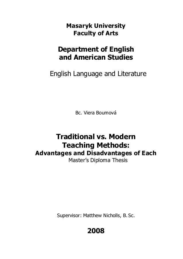 Masaryk University           Faculty of Arts      Department of English      and American Studies    English Language and ...
