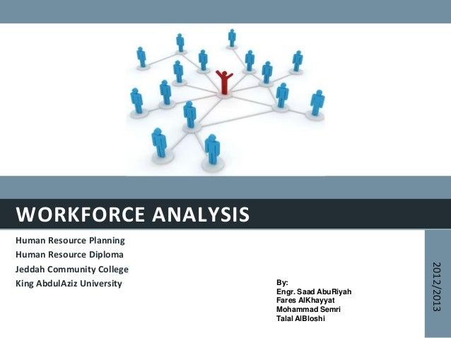 WORKFORCE ANALYSISHuman Resource PlanningHuman Resource DiplomaJeddah Community CollegeKing AbdulAziz University2012/2013B...