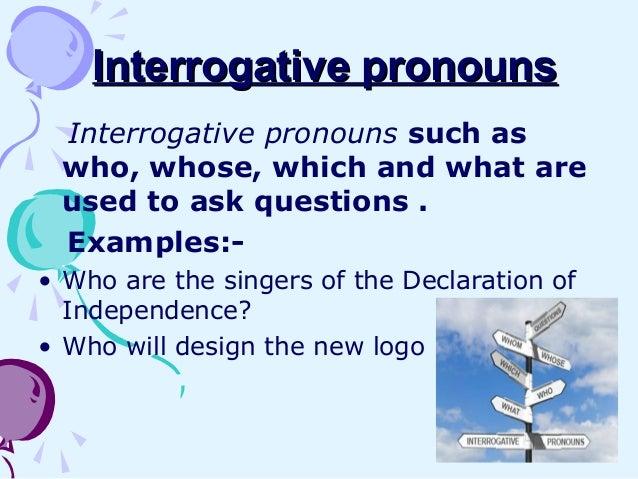 interrogative pronouns examples - 638×479