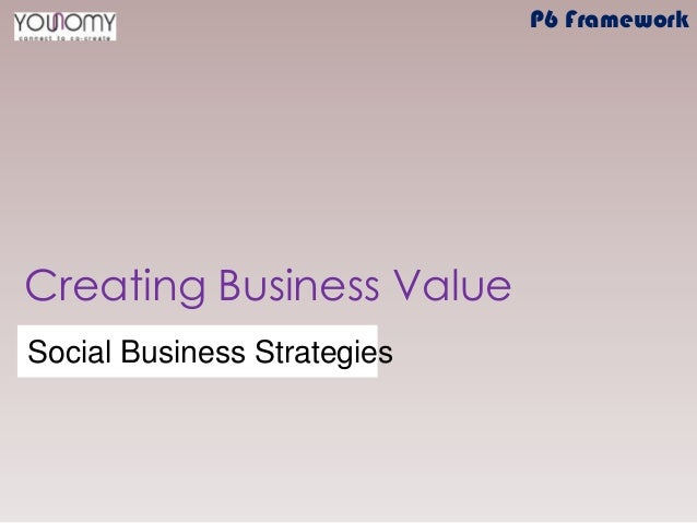Creating Business Value Social Business Strategies P6 Framework
