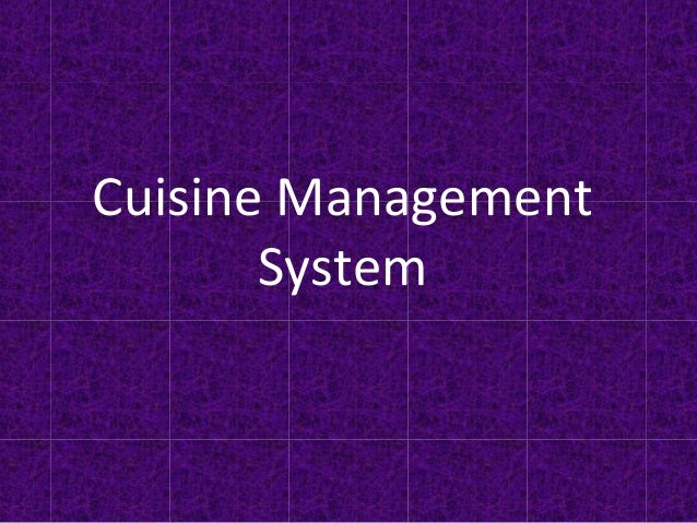 Cuisine Management System