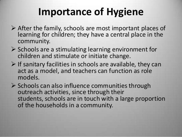 The importance of hygiene practices in