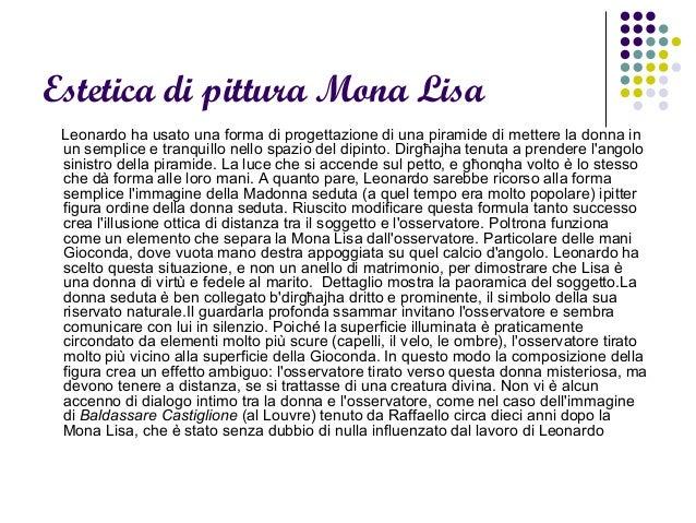 Estetica di pittura Mona Lisa Leonardo ha usato una forma di progettazione di una piramide di mettere la donna in un sempl...