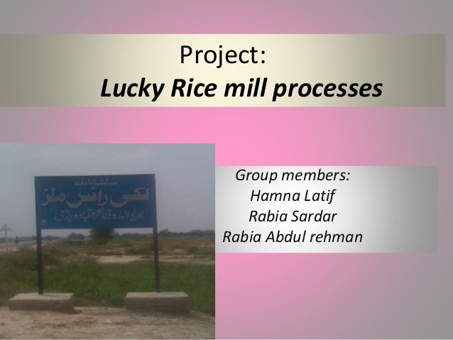 project on rice industry There is a need for better understanding of the industry in order to obtain  economic  this project was funded by the institution of higher education  excellence.
