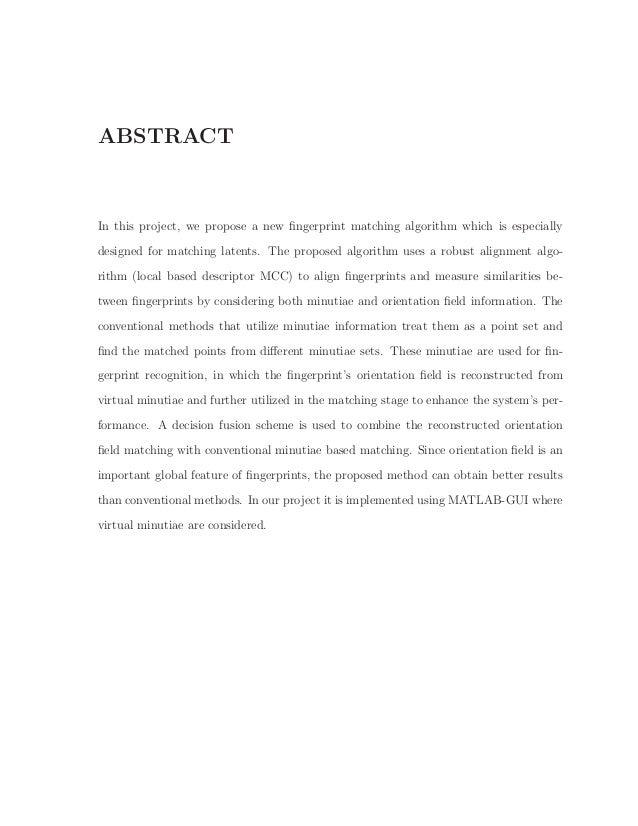 LATENT FINGERPRINT MATCHING USING AUTOMATED FINGERPRINT