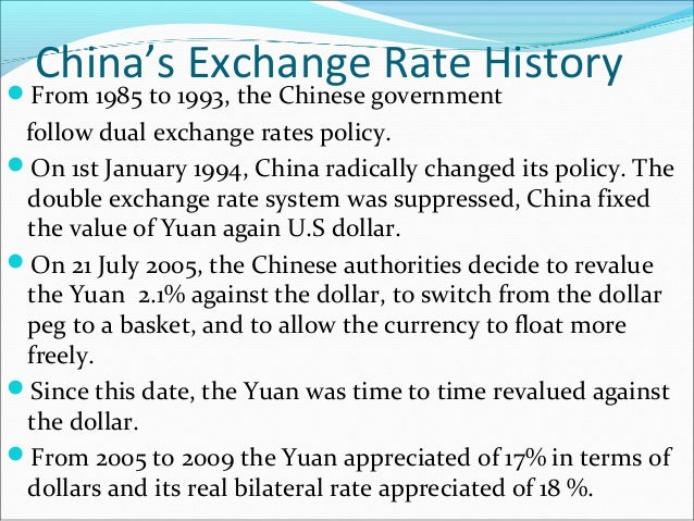 2 should china revalue the yuan against That was in july 2005 when it announced a 21 per cent appreciation of the yuan against the  devaluing the yuan is also against china's long-term goal of.