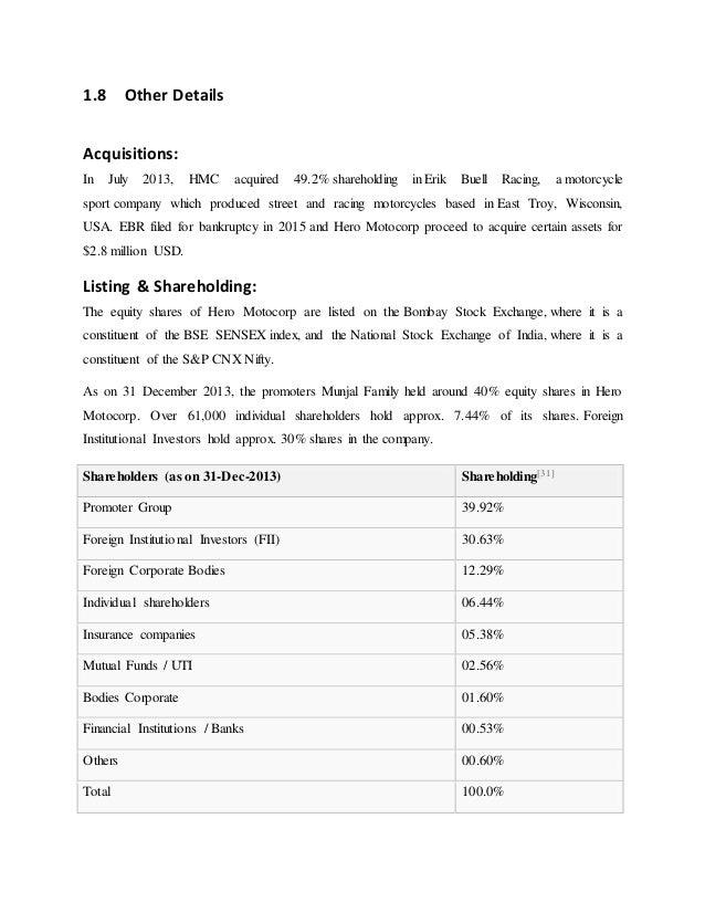 financial analysis of hero honda bajaj motor Free case study solution & analysis | caseforestcom producing lowest cost two-wheelers: bajaj auto vs hero honda by ved singh.