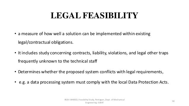 legal aspect of feasibility study