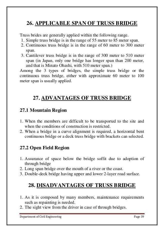 truss report This report represents the work of wpi undergraduate students to the   additionally, a new system for breaking 3d printed truss bridges is.