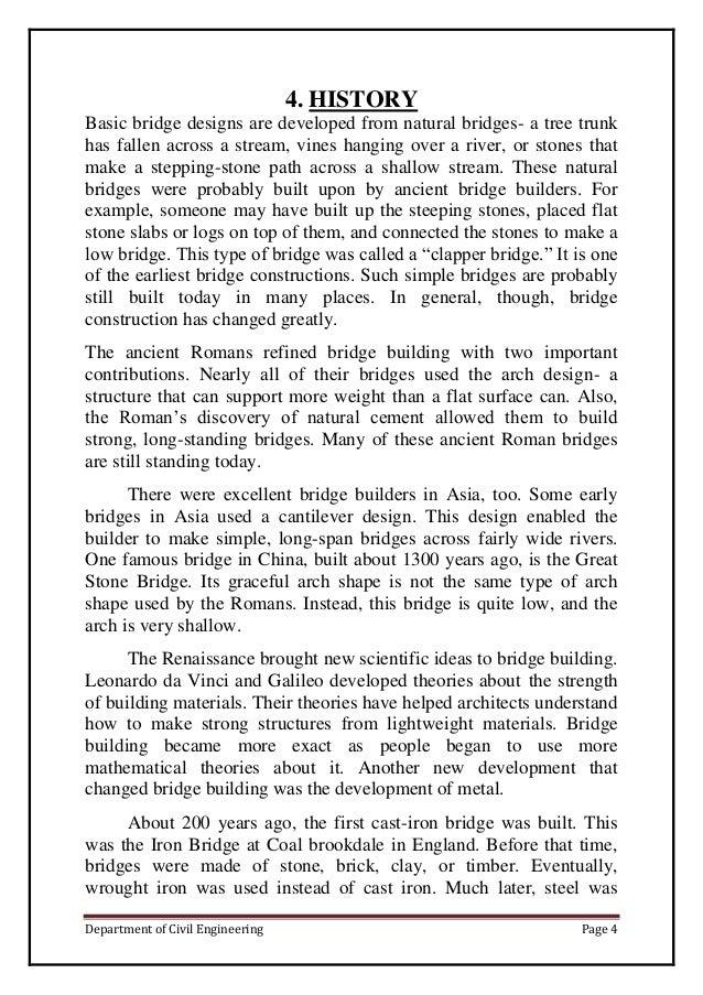 truss bridge project report essay example