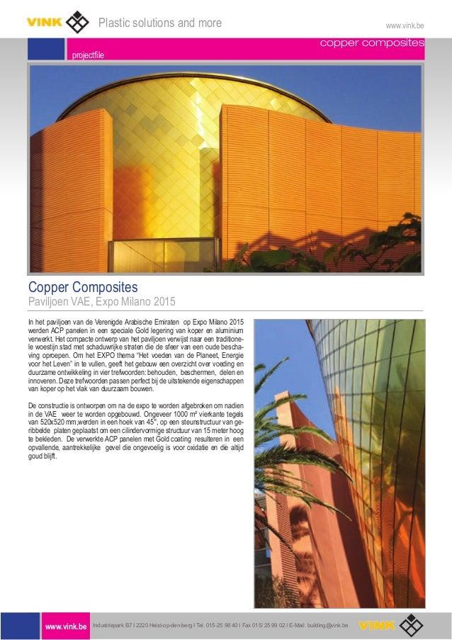copper composites projectfile Copper Composites Paviljoen VAE, Expo Milano 2015 In het paviljoen van de Verenigde Arabisch...
