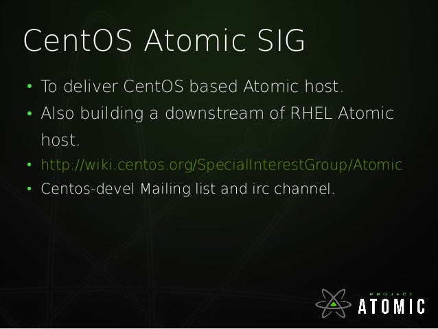 References ● Introduction to Atomic - Joe Brockmeier - https://www.youtube.com/watch?v=cPltG4Yd KVE ● https://github.com/G...
