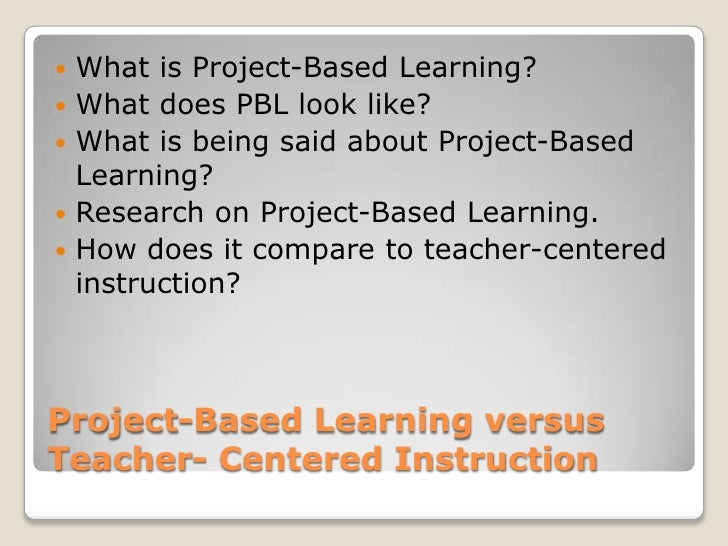 Project based learning Slide 2