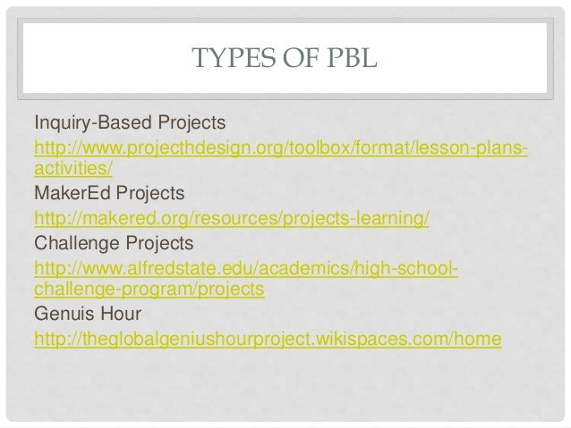 Project Based Learning - Project based learning lesson plan template