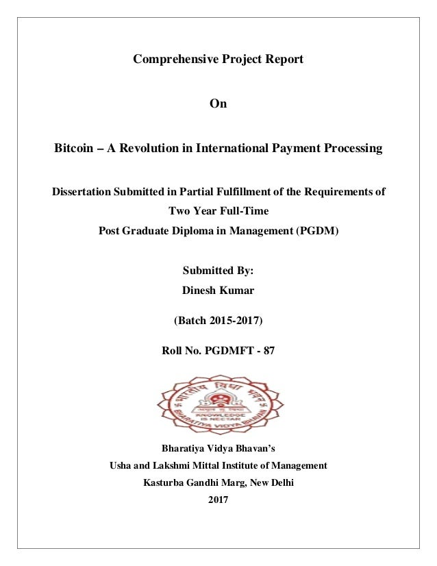 International payment thesis