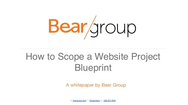 How to scope a website project blueprint w beargroup t bearideas p 2069737940 malvernweather Images
