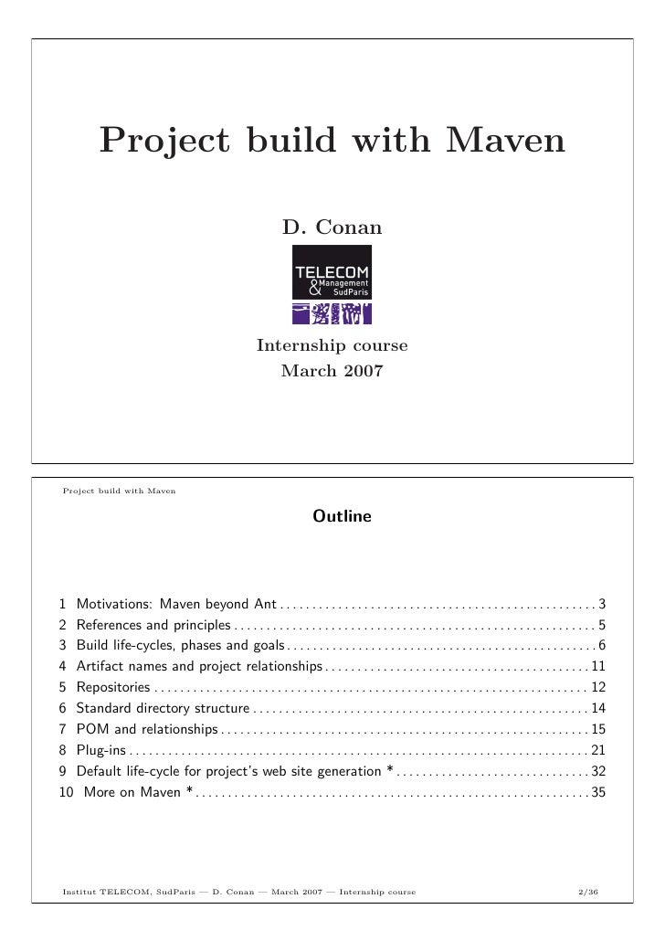 Project build with Maven                                                                     D. Conan 1                   ...
