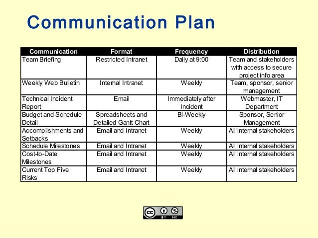 Project Management Communication Plan Template Pictures to ...