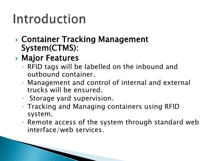 Project Container Tracking And Management System