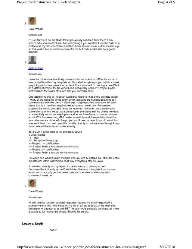 Project folder-structure-
