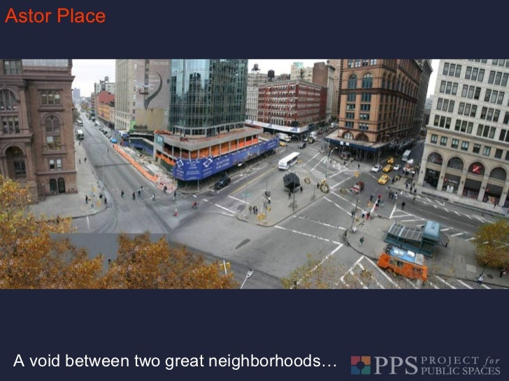 Astor Place A void between two great neighborhoods…